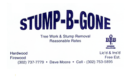 stump be gone tree work delaware