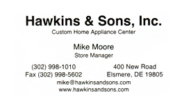 hawkins and sons custom home appliance center delaware